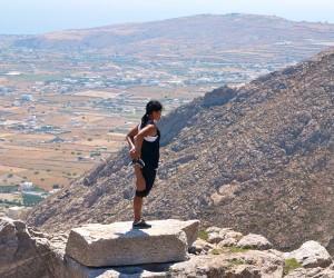 Stretching in Santorini - Greece