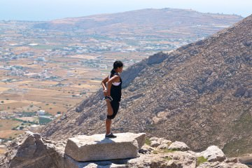 Stretching in Santorini - Greece