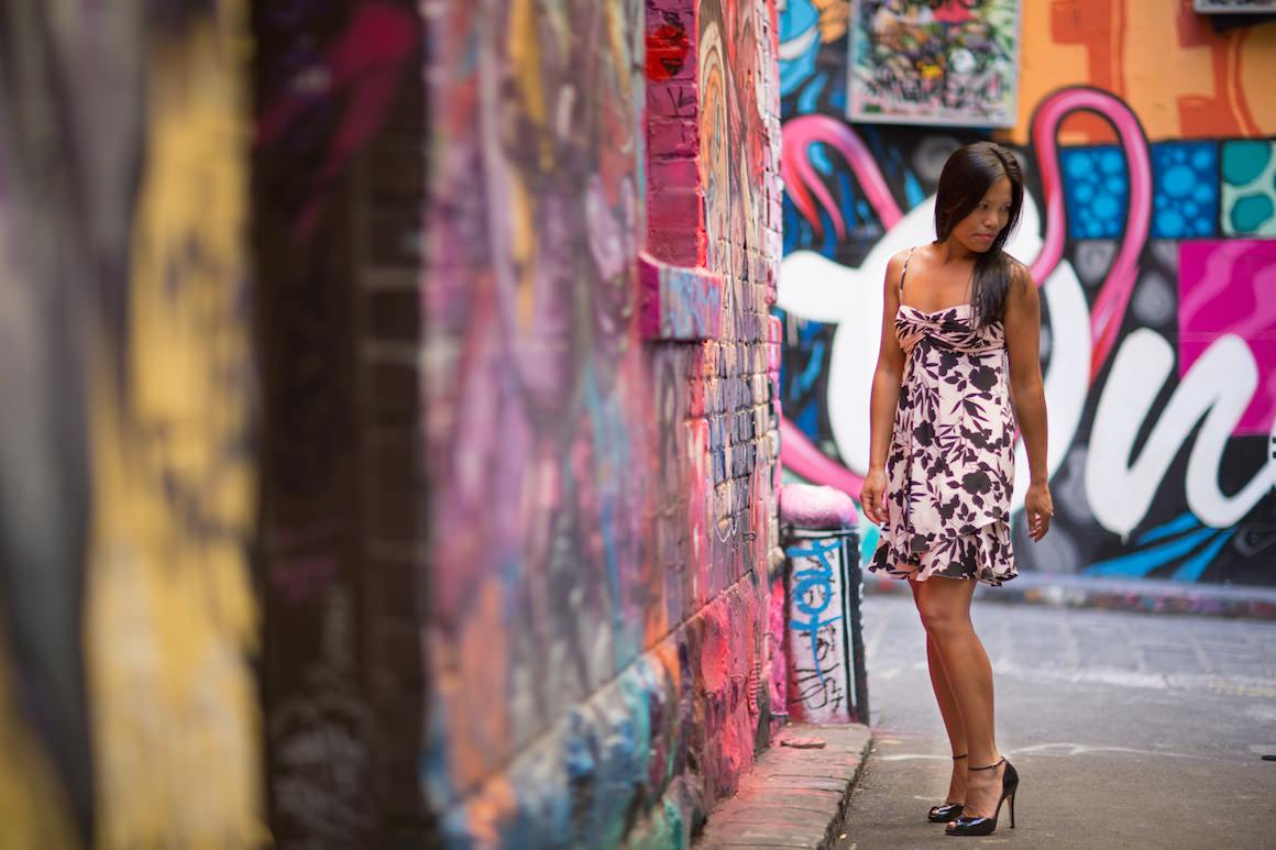 Girl in Hosier Lane