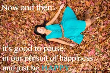 Happy Quote - autumn leaves