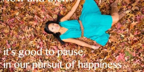 Happy Quote - autumn leaves