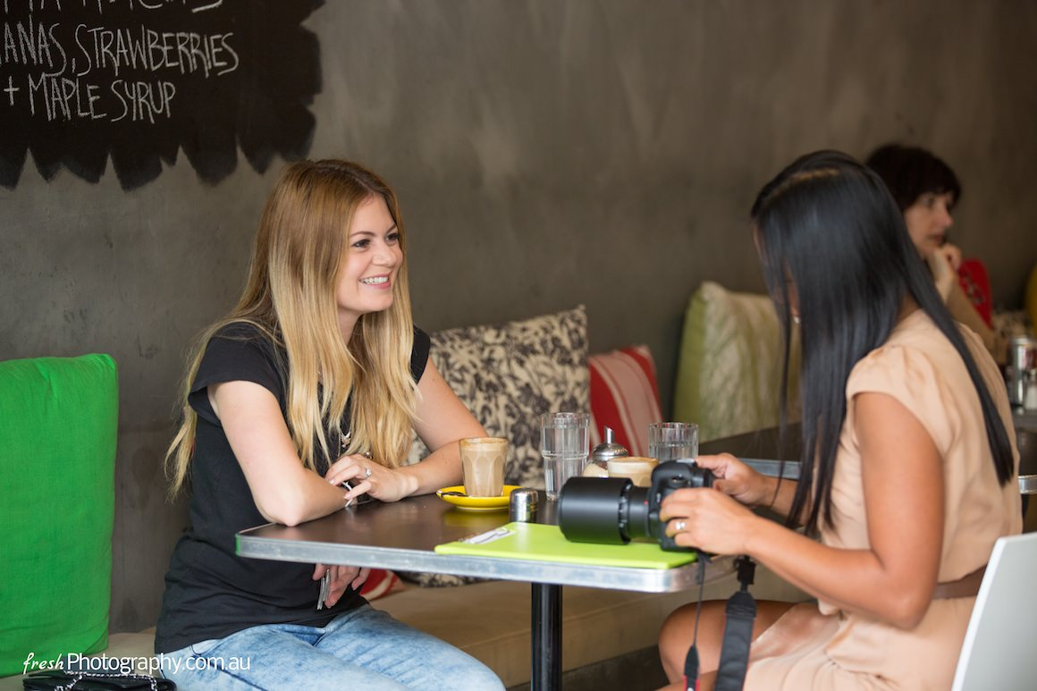 Interview with Fashion Blogger from Armadale, Melbourne - enjoying a coffee at grapeseed