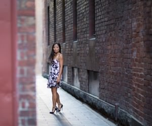 Fashion in the dark alleyways of Melbourne CBD