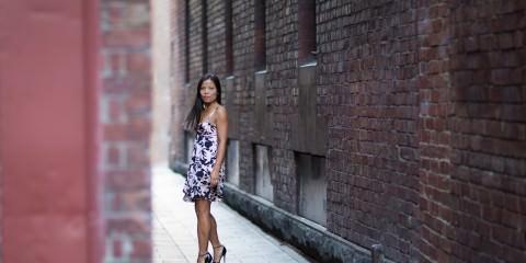 Fashion in the dark alleyways of Melbourne CBD