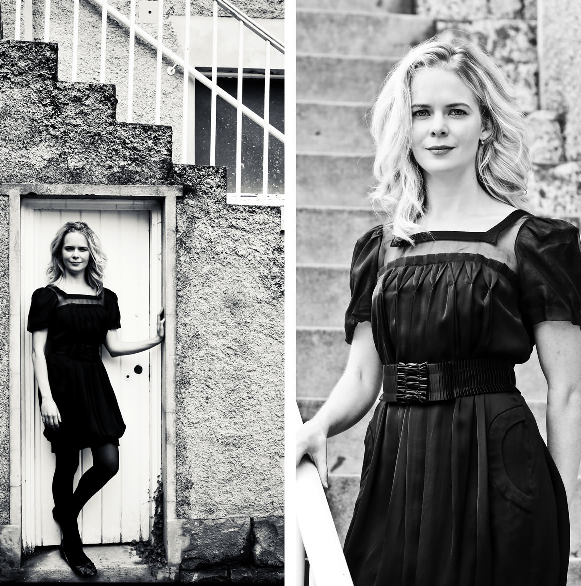black and white photography - Nicole Kidman