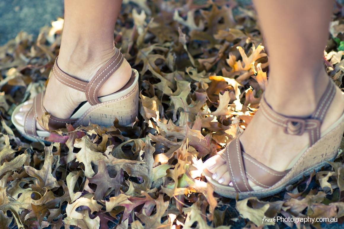 shoes in autumn - love the leaves