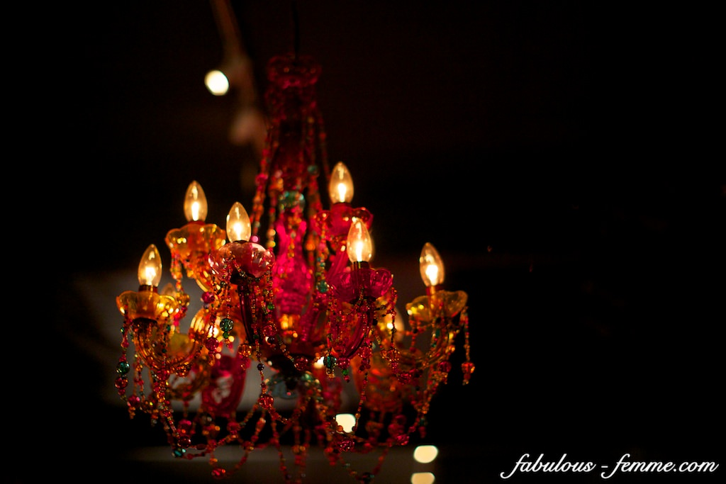 colourful chandelier - vintage asian