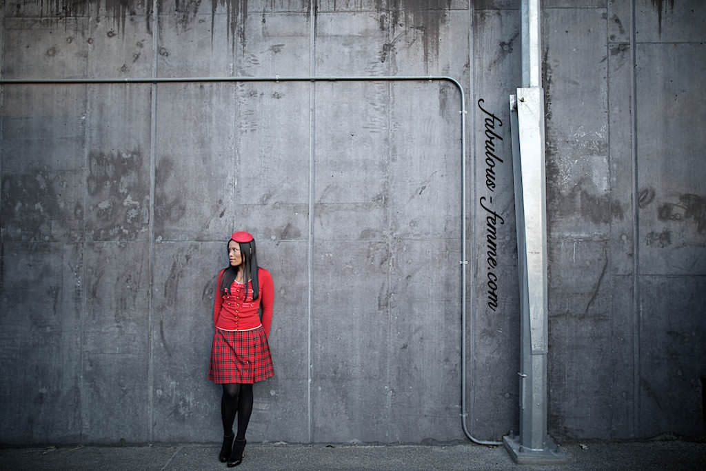 red dress on concrete backdrop in melbourne - new blogs
