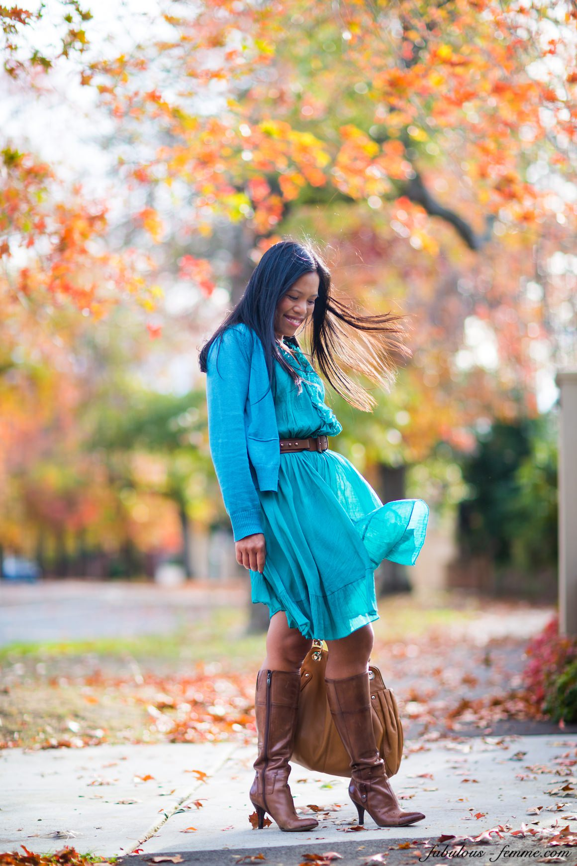 melbourne autumn fashion - ruffleld dress - blogging in melbourne