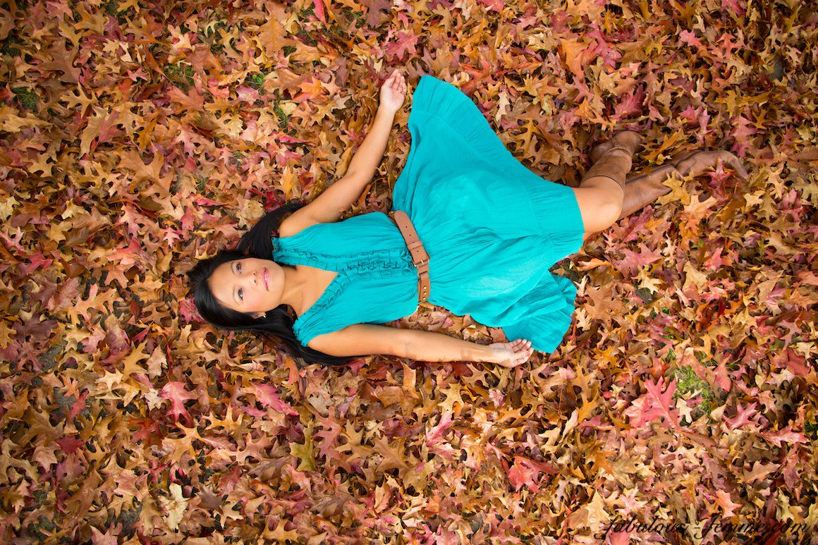 covered in leaves - fun autumn photography