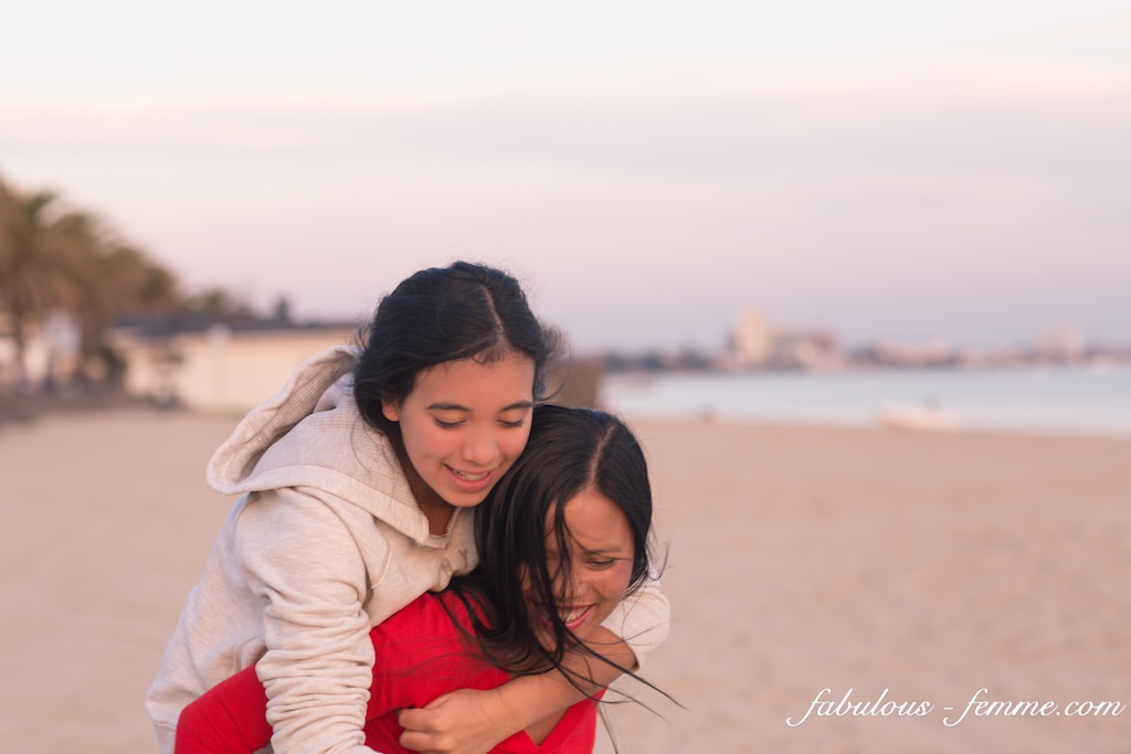piggy back at the beach ... fun fun fun