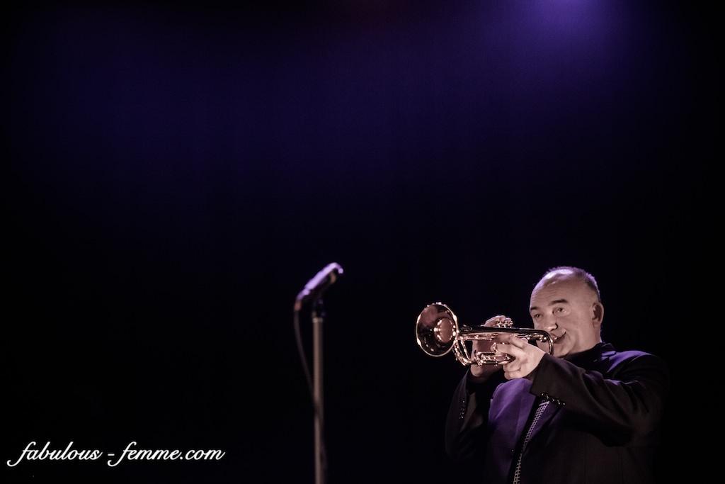 James Morrison playing trumpet
