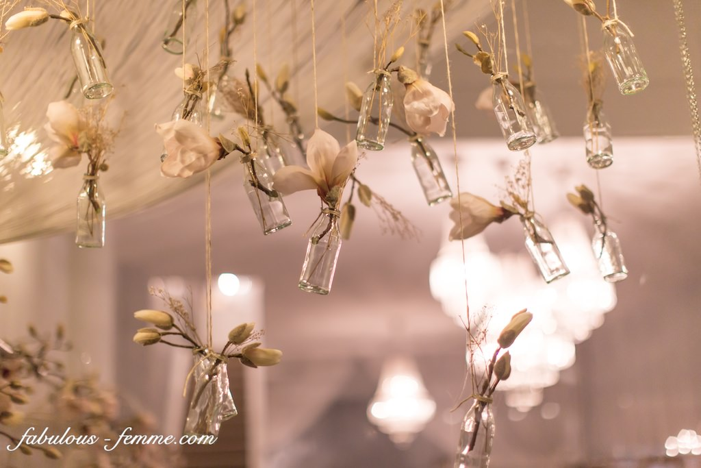 decoration for wedding dress launch