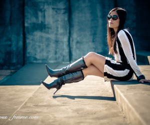 black and white - stripes - fashion feature