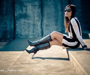 black and white - stripes - fashion feature
