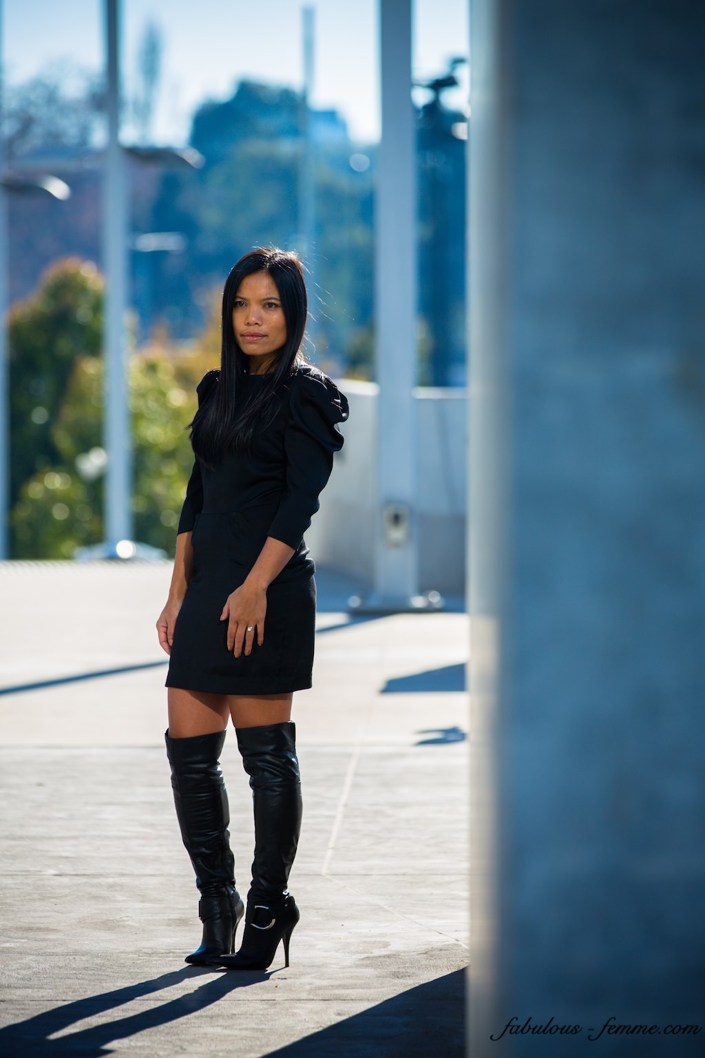 black dress - fashion blogger melbourne