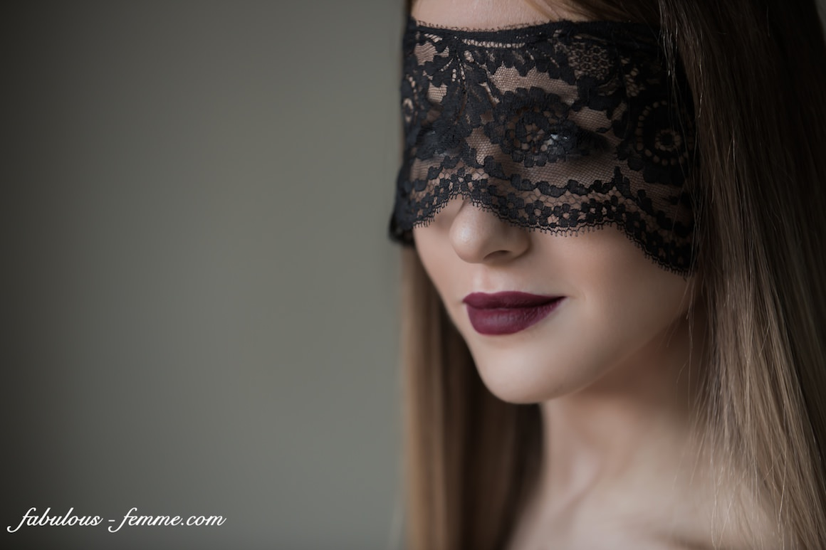 stunning girl with lace mask - beautiful