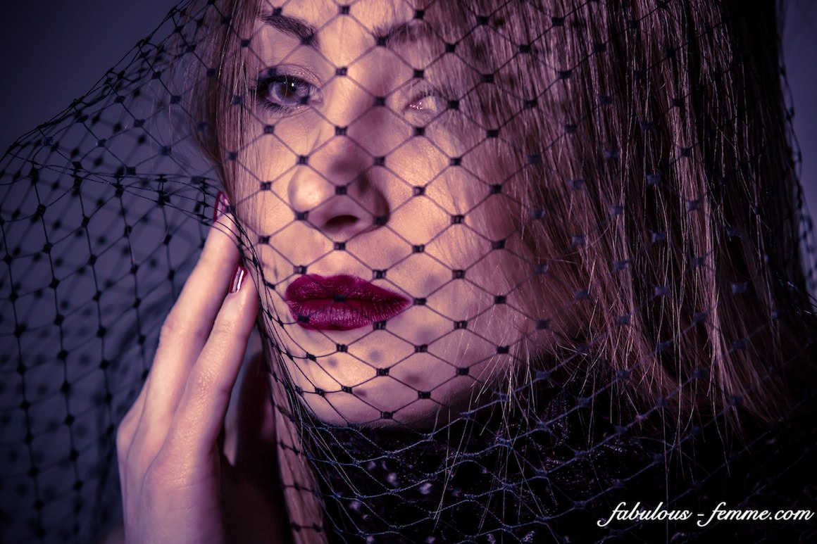 lace netting - face covered - girl portrait melbourne fashion