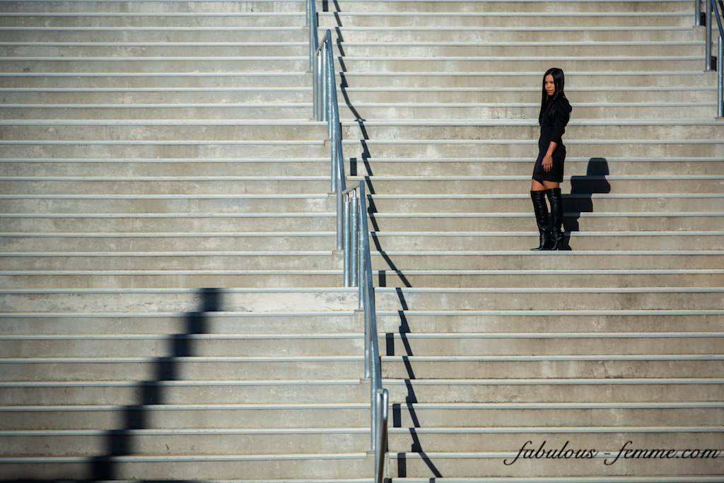 girl on stairs - fashion presentation in melbourne australia