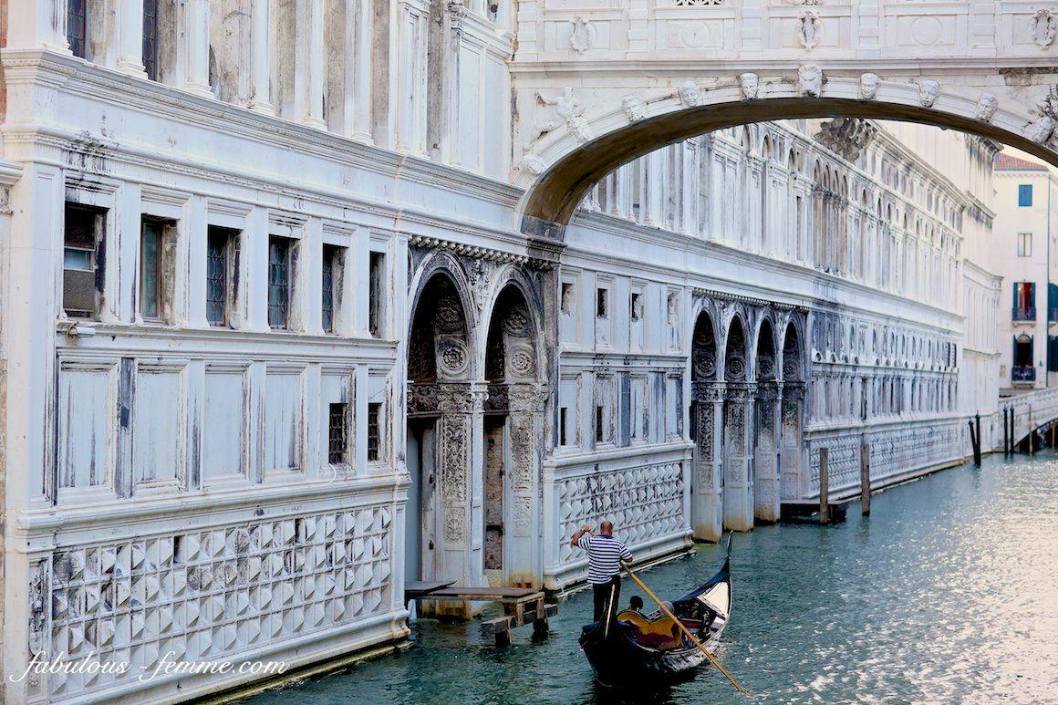 gondola in venice - old building in background
