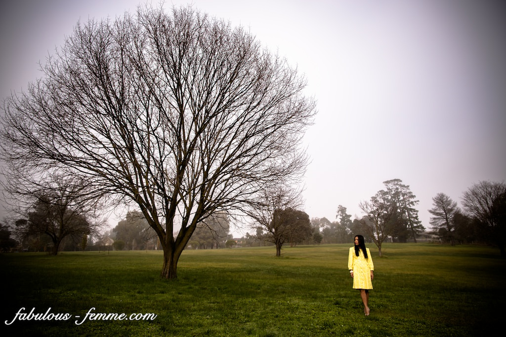 perfect tree - yellow dress