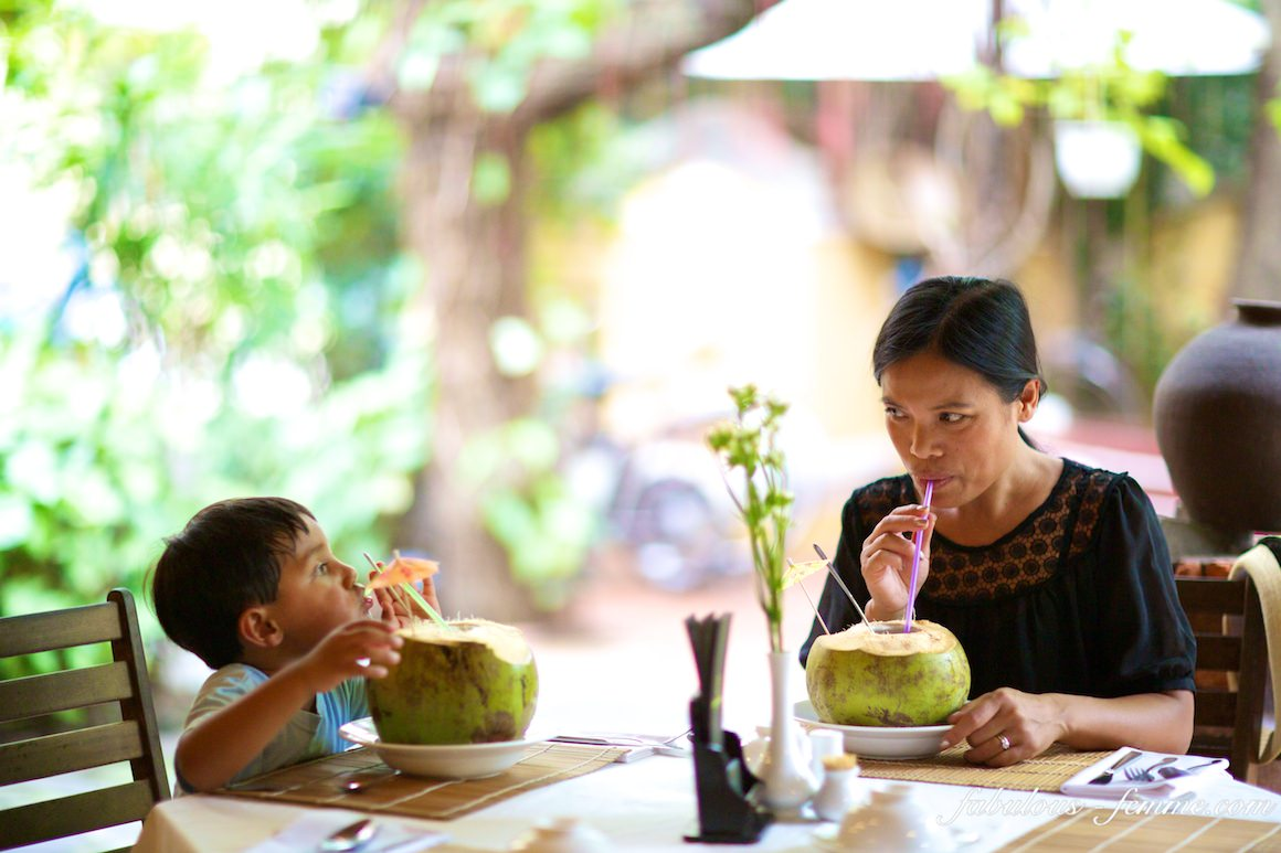 enjoy a coconut drink in vietnam