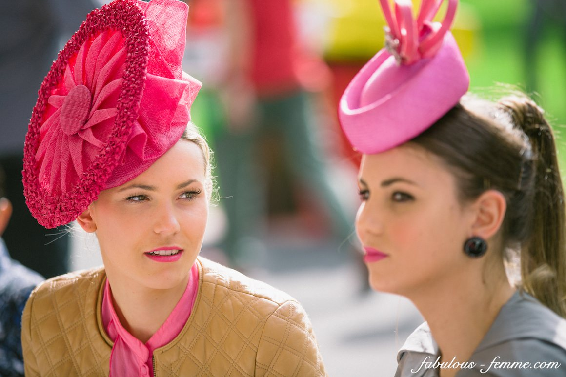 Pink hats - millinery