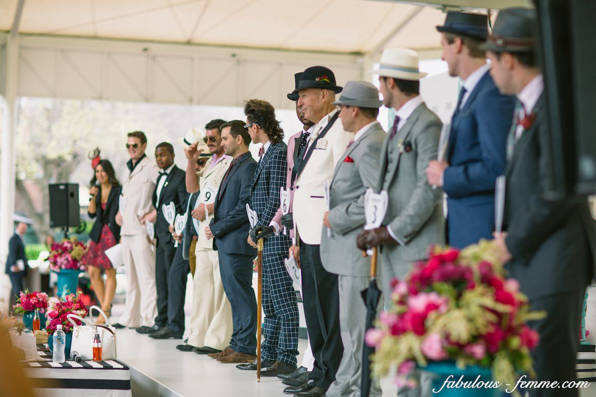 stylish gentlemen at the fashions on the field - what suit to wear