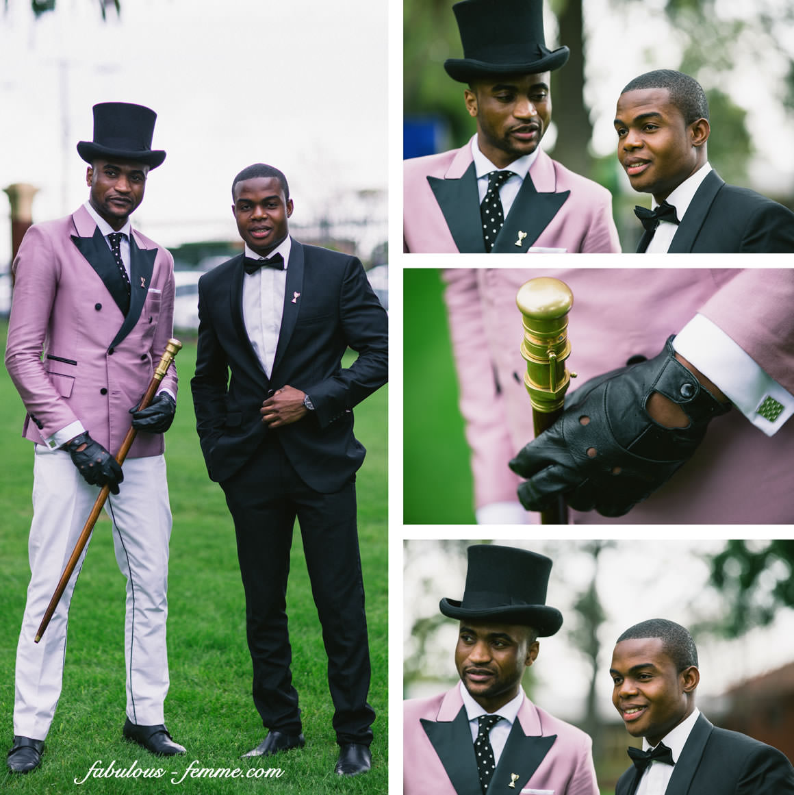 stylish gentlemen at fashions on the field 2013