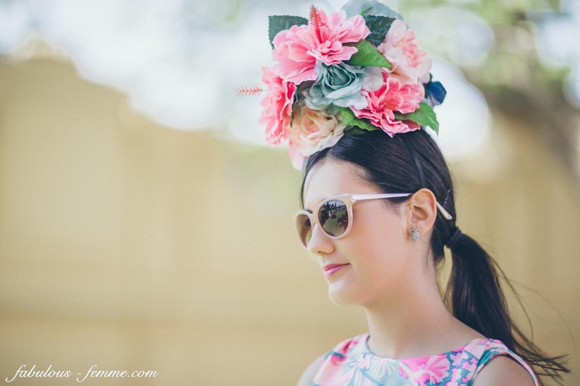 floral hatpiece