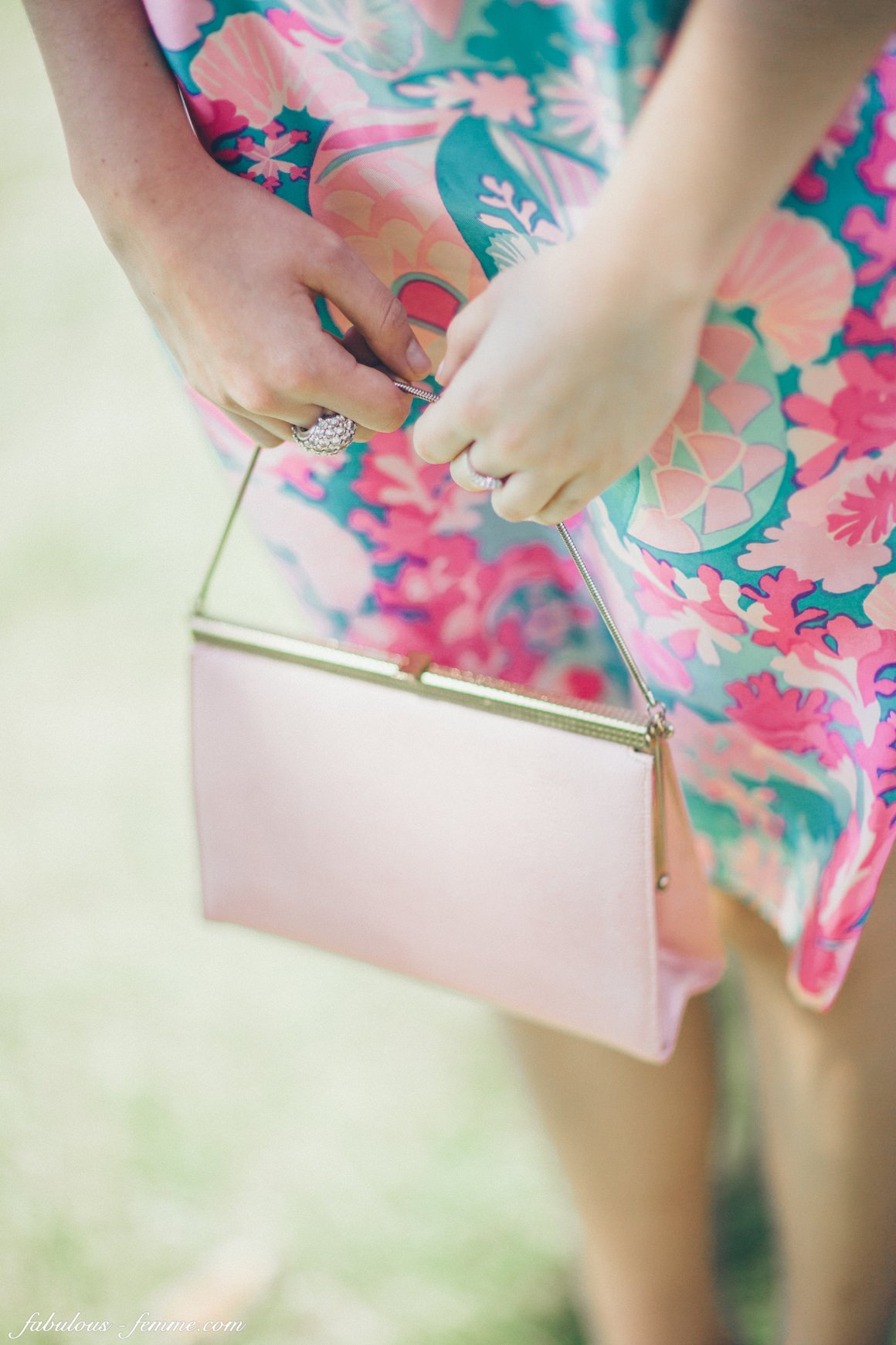 floral dress at melbourne spring racing