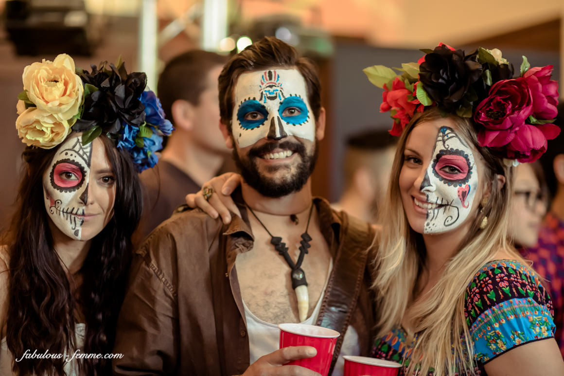 gorgeous make up for the day of the dead -at the trust in melbourne cbd - best event photography melbourne