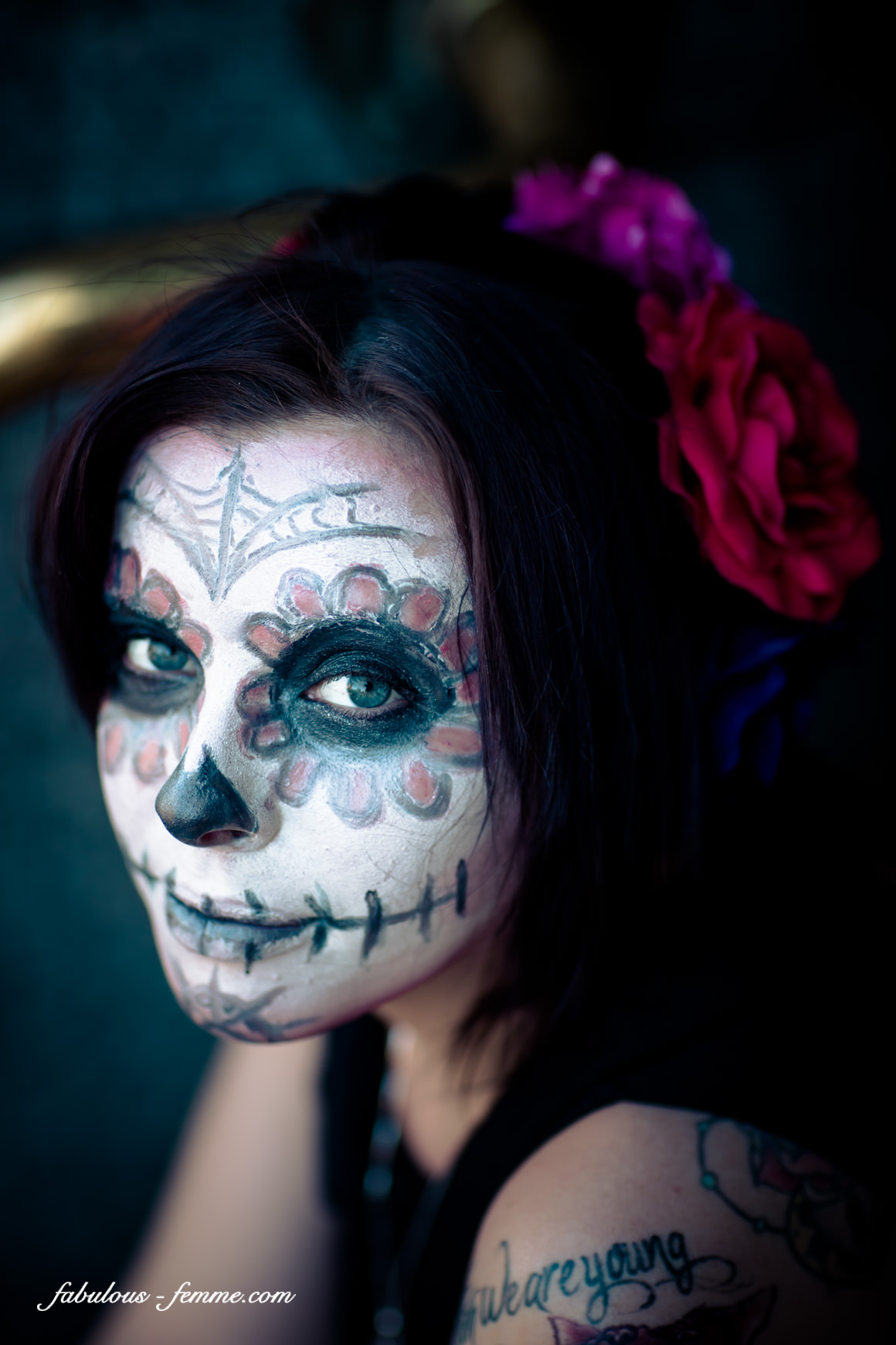 easy suger skull look