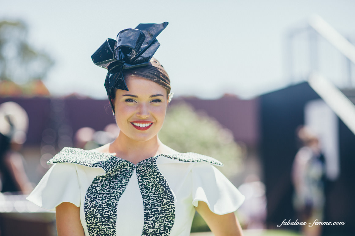 derby day fashion - black and white