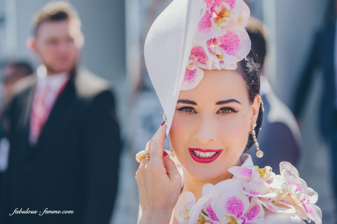 best portrait of dita von tees at the melbourne cup at flemington