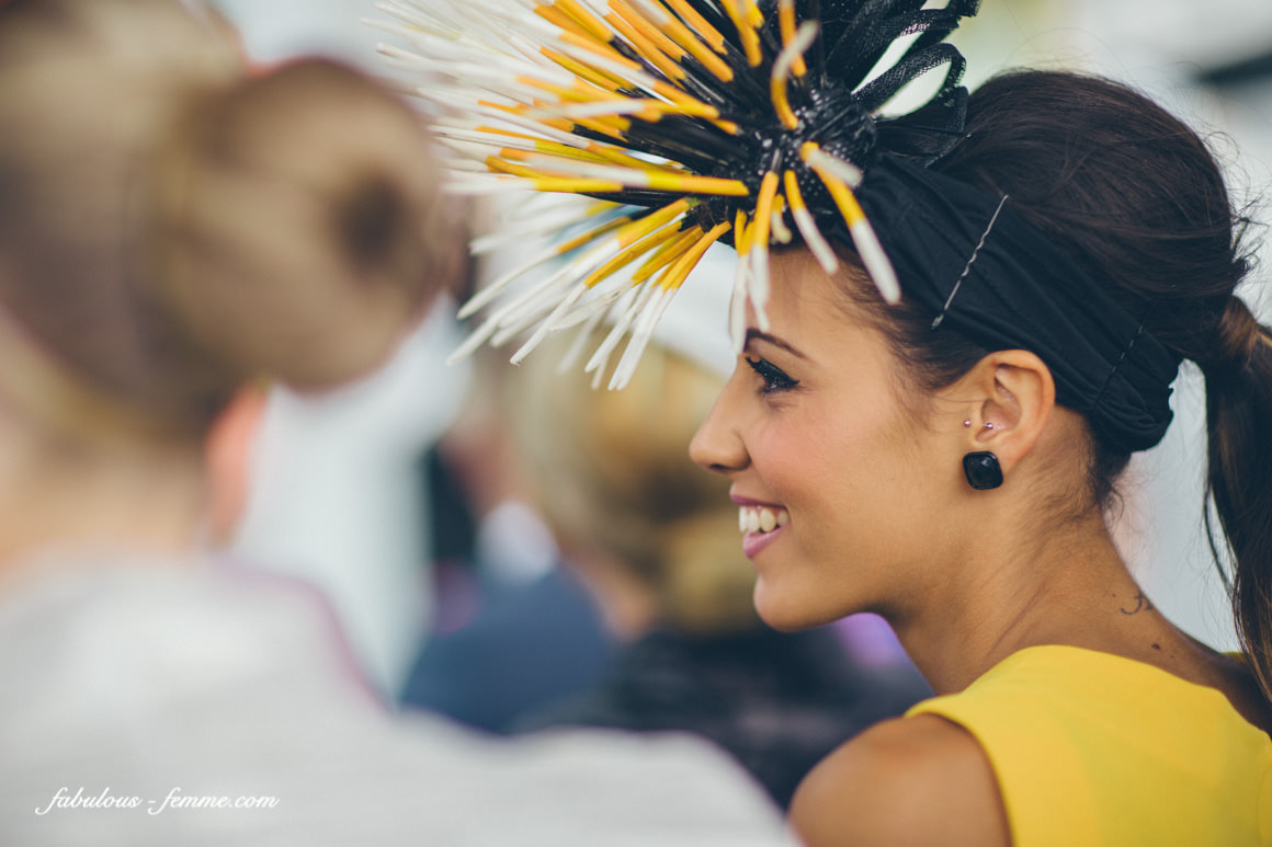 amy - yellow - black millinery - inspiration
