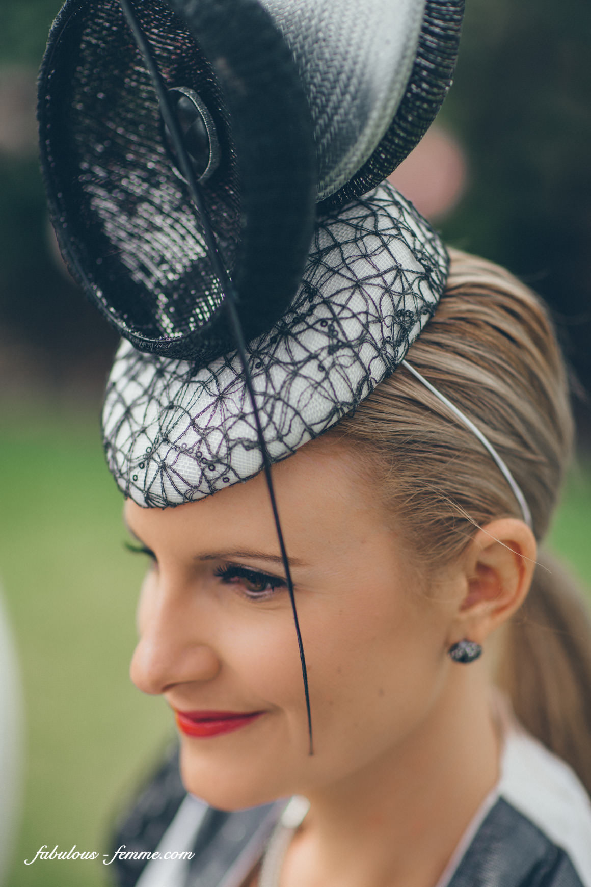 black and white millinery