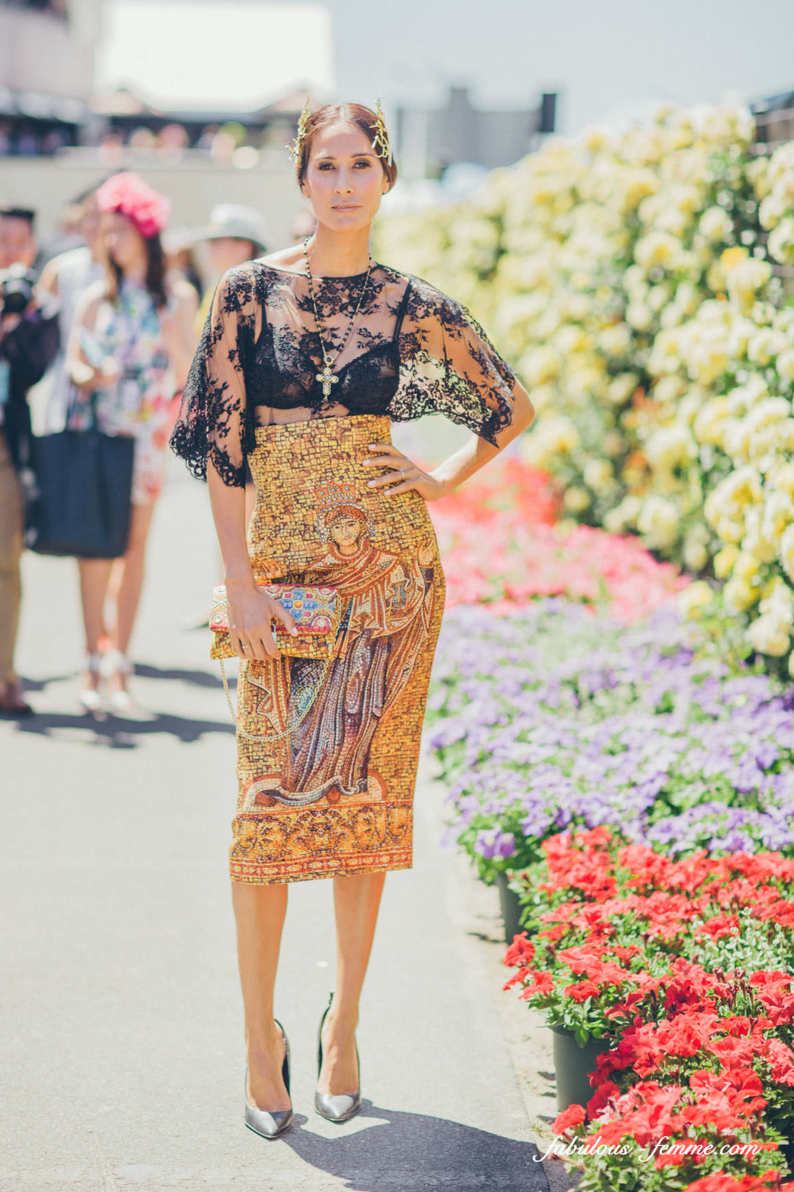 linty klim outfit at the melbourne cup