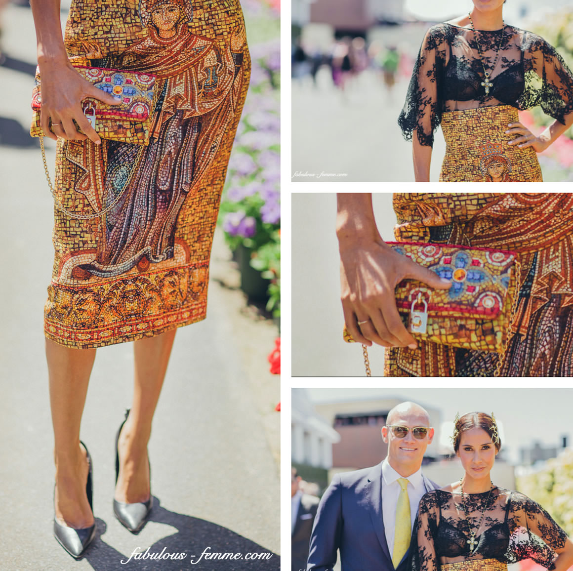 fashion trends at the melbourne cup by Lindy Klim - D&G