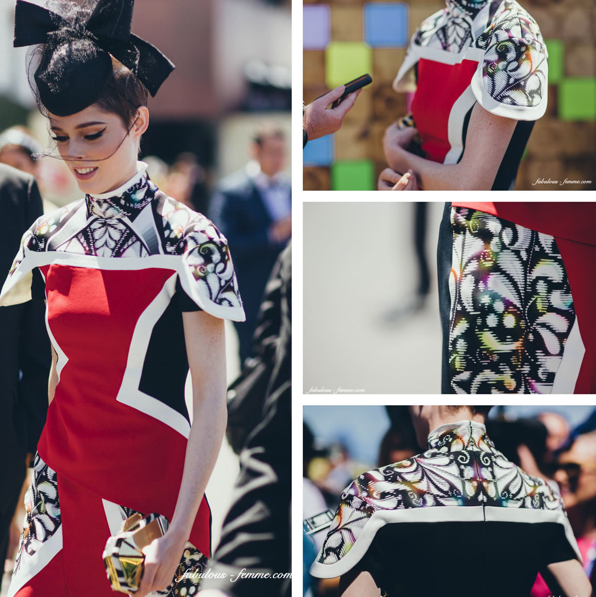 celebrities at the melbourne cup 2013 - supermodel coco rocha