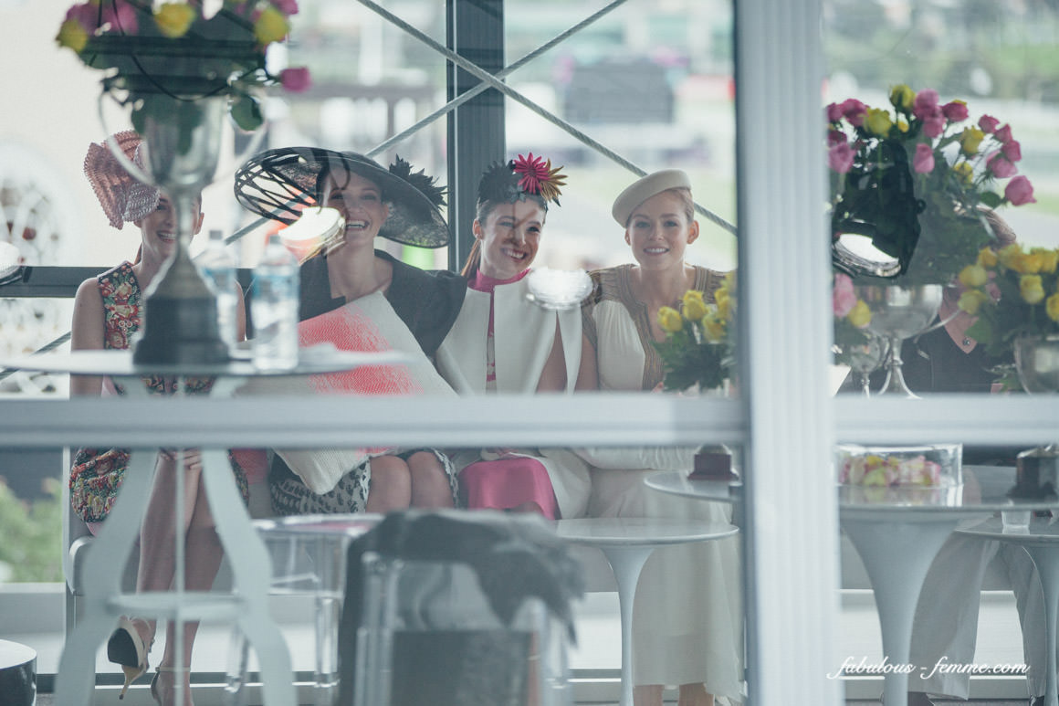 spring racing models at the fashions