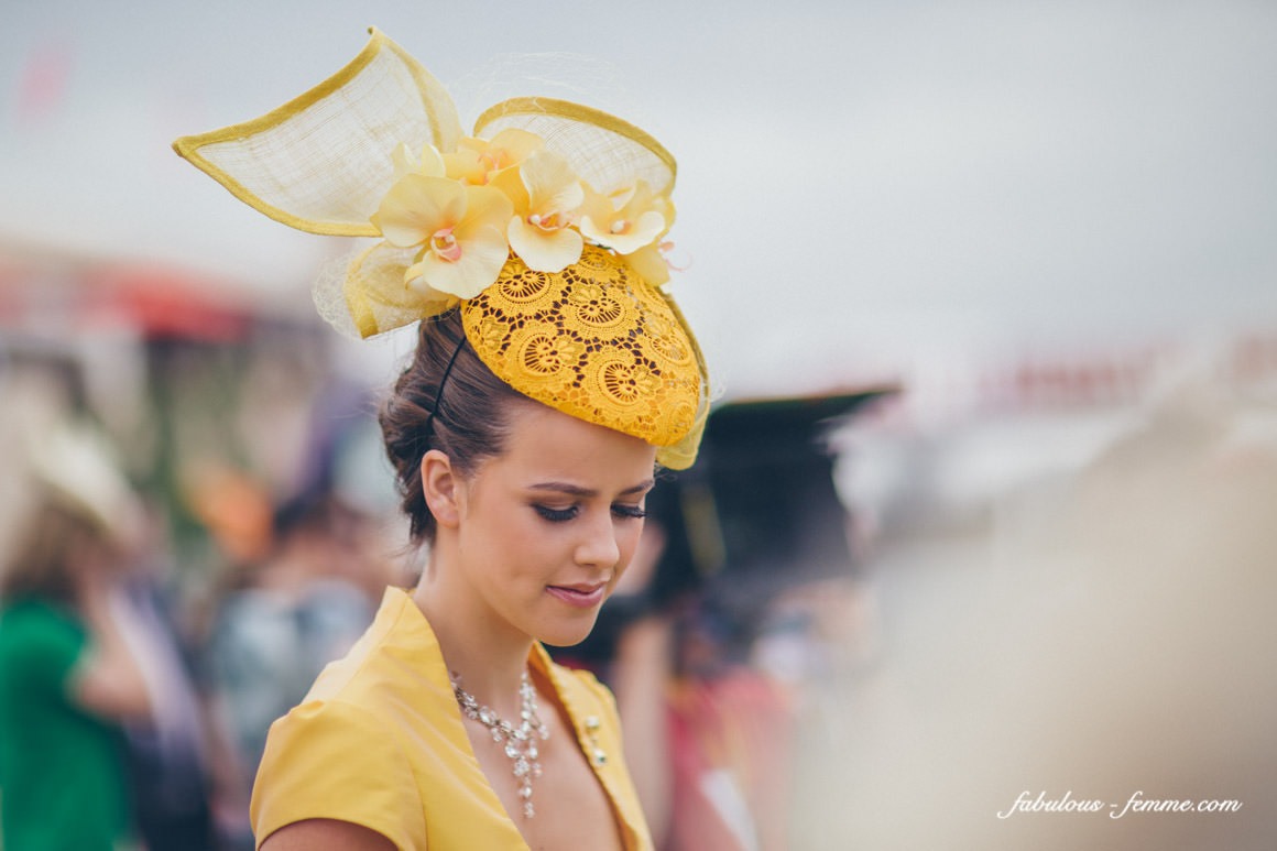 stunning hats at the melbourne spring carnival