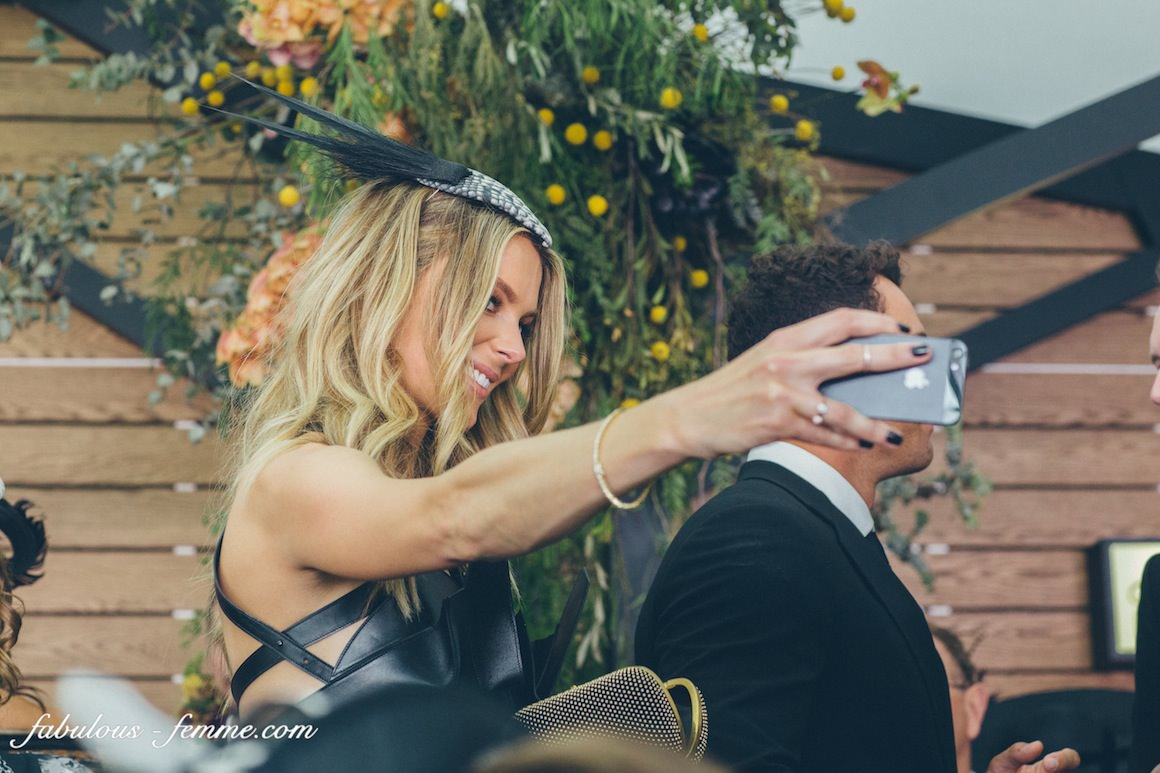 jennifer hawkins taking a selfie