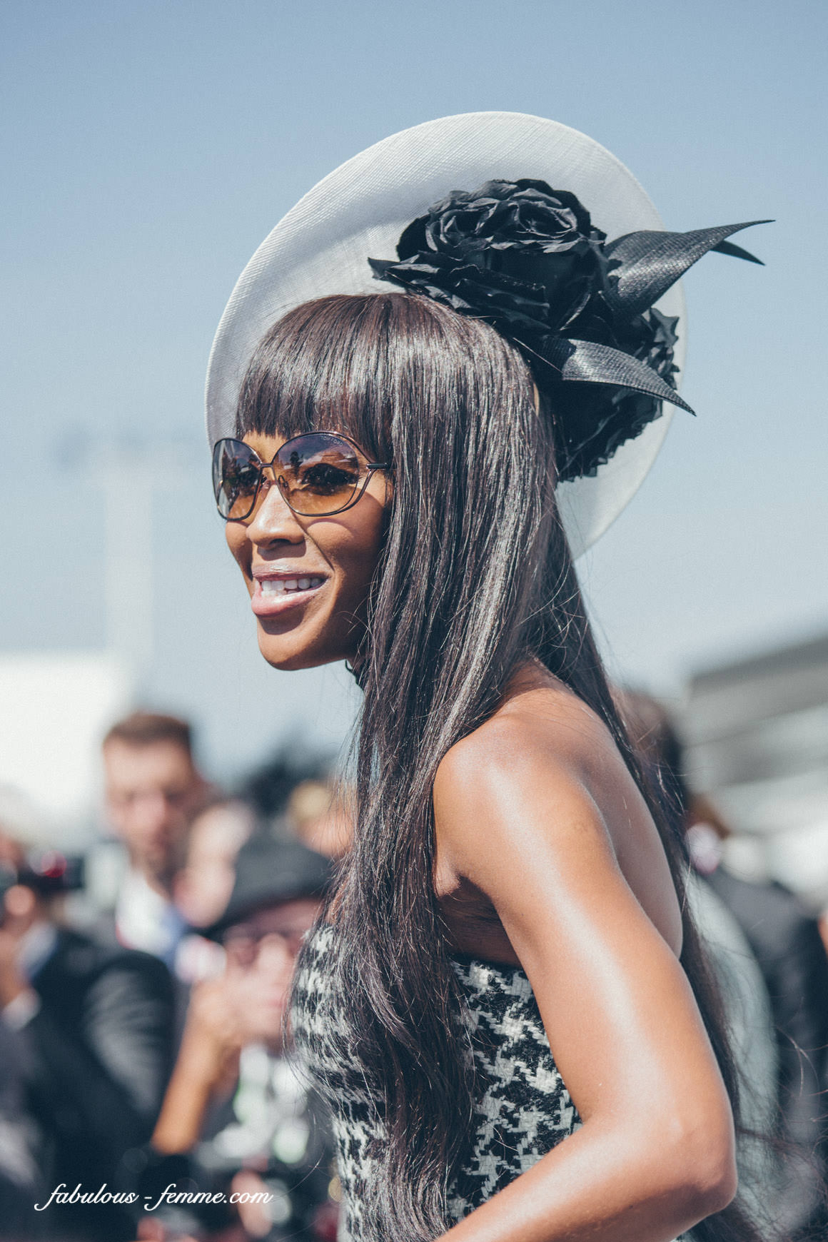 Naomi Campbell at Melbourne Spring Racing Carnival 2013