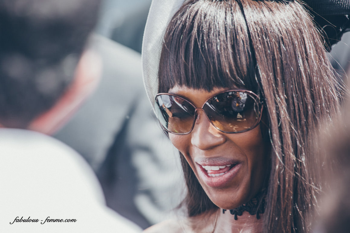 Naomi Campbell visits the Lexus Marquee at Derby Day