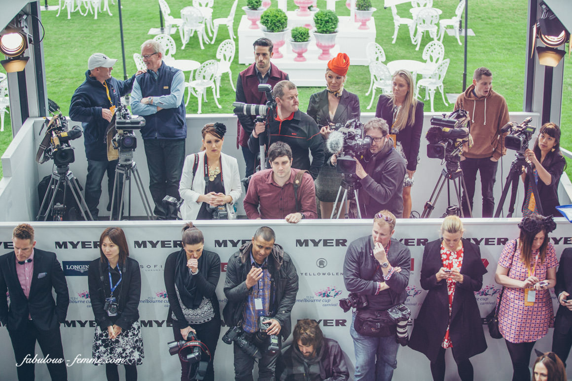 media at spring racing carnival in melbourne