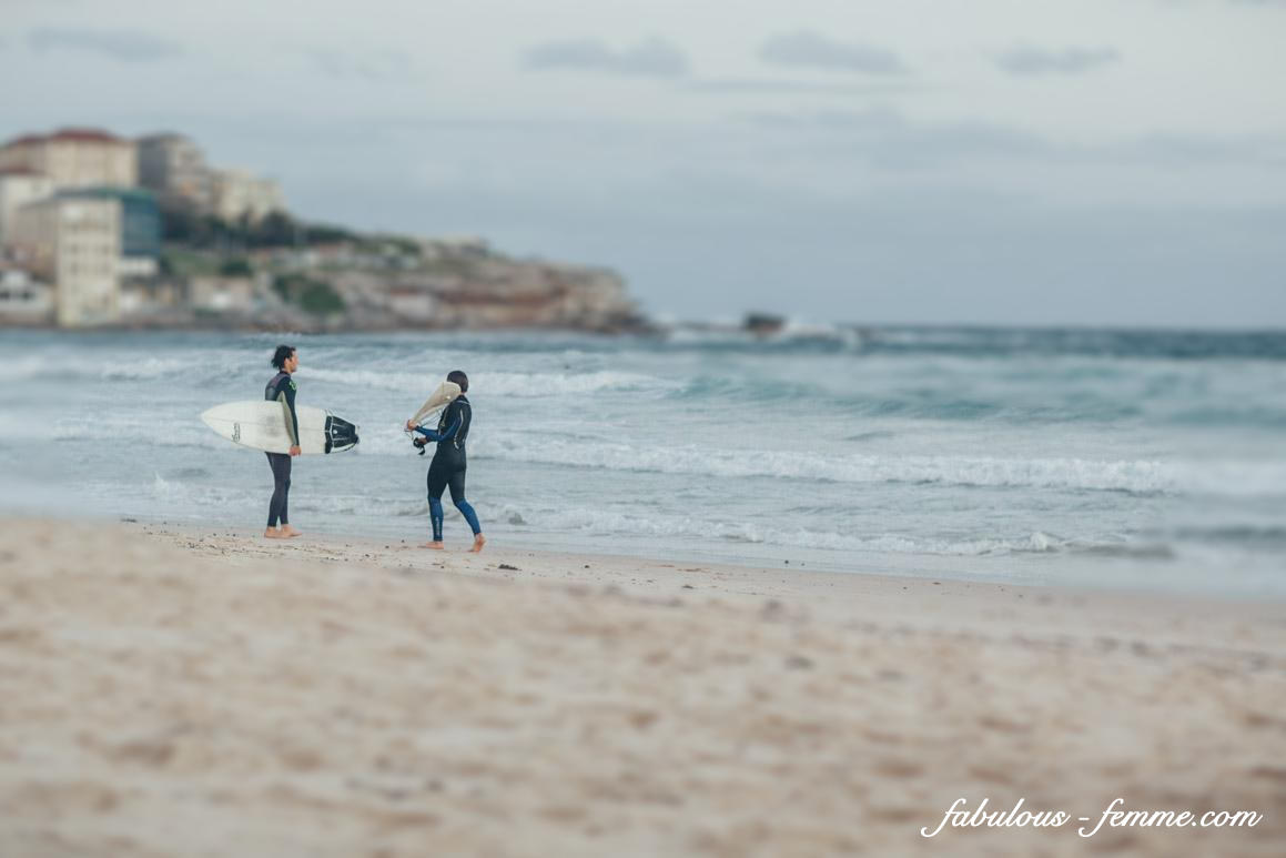 surfing at bondi beach