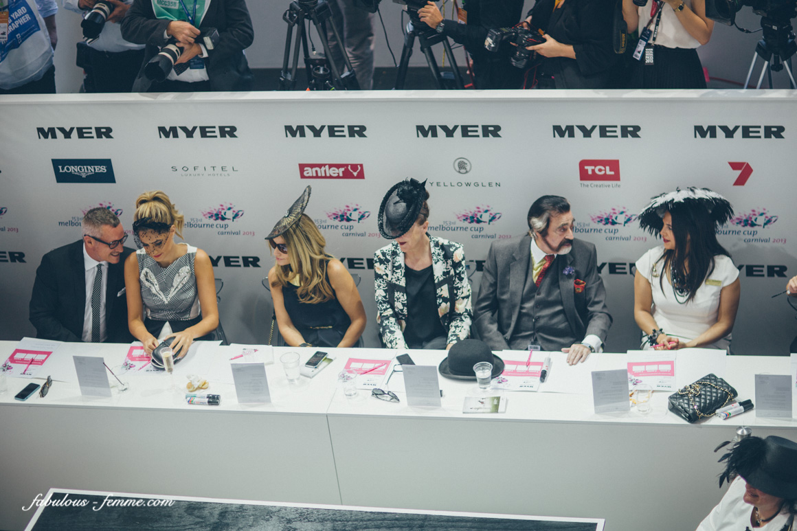 judges for the derby day Myer fashions on the field