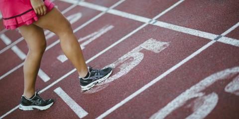 girl on athletics track