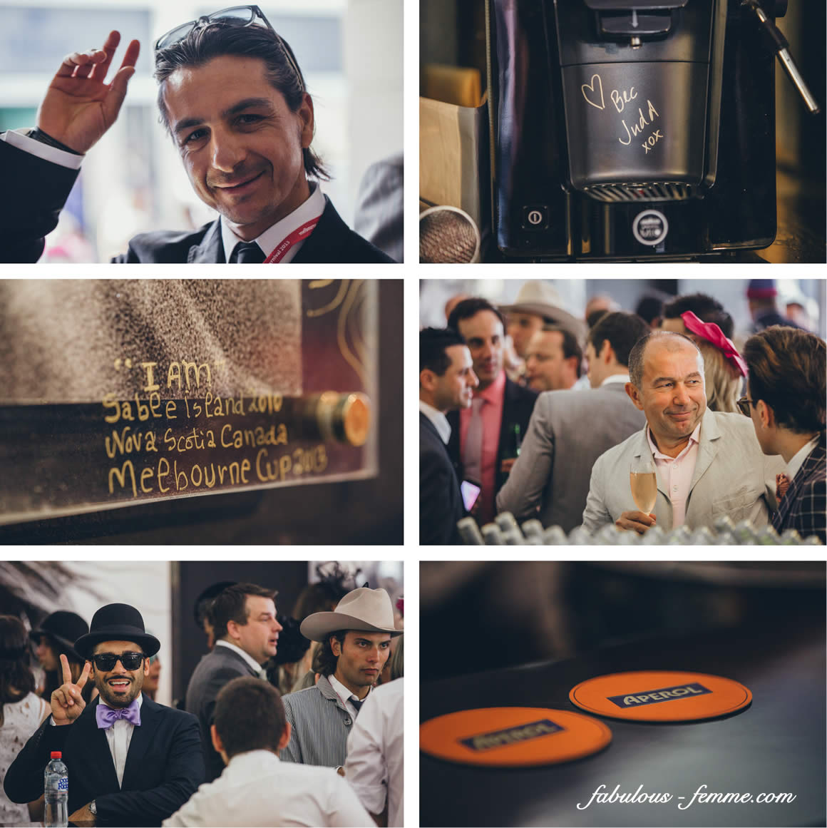the lavazza marquee at the melbourne cup 2014